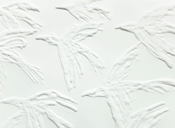 ptáci stěhovaví, fragment, formát A5