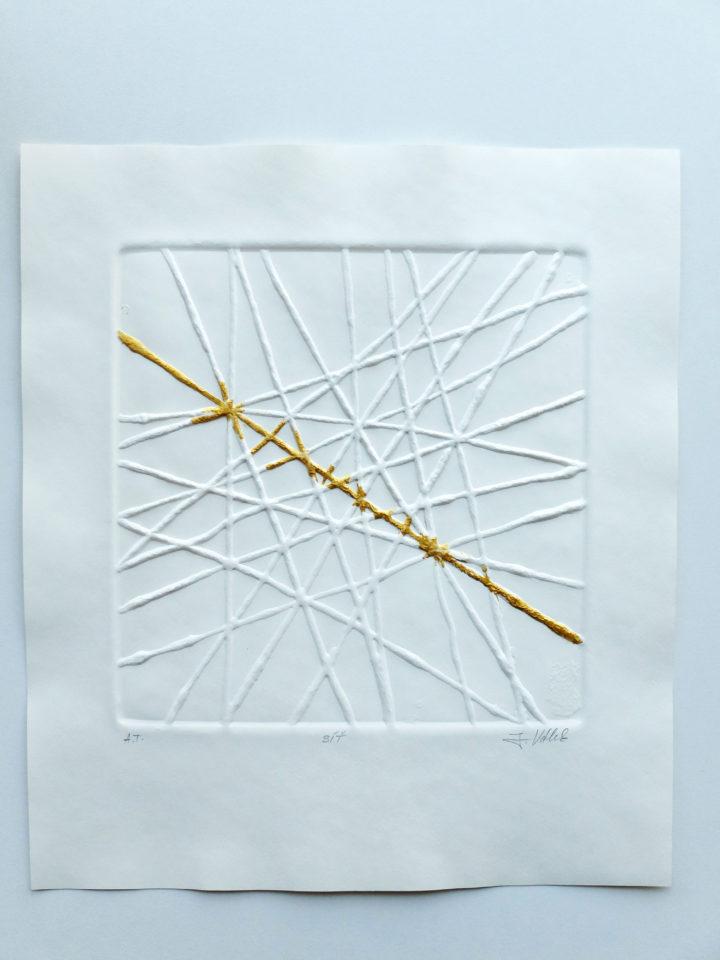 síť, 33 x 35 cm, reliéfní grafika
