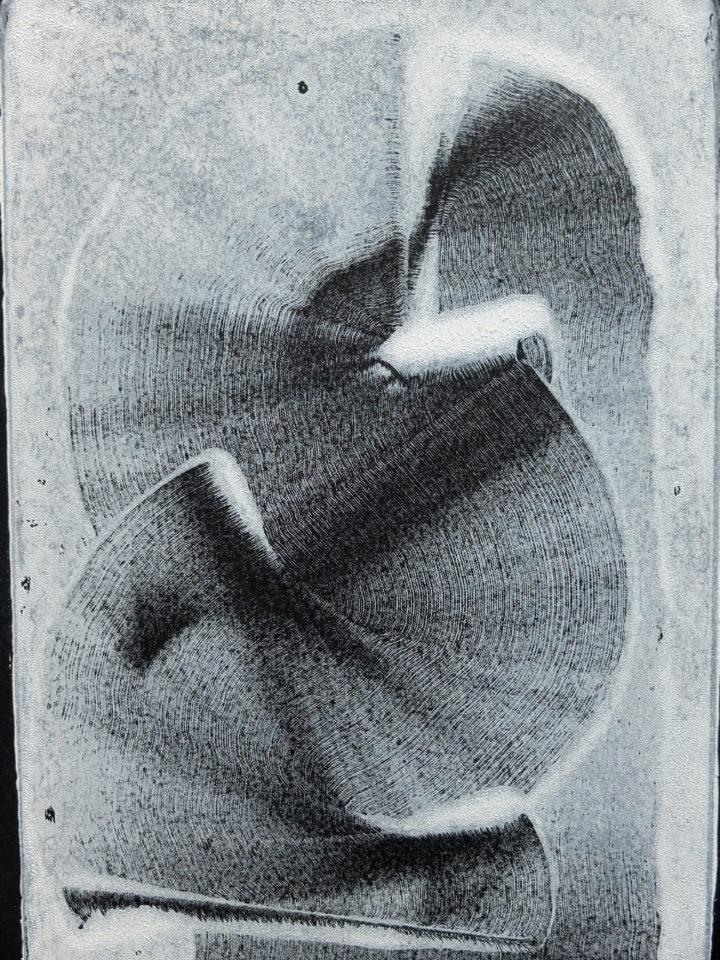 posun, 33x35 cm, monotyp